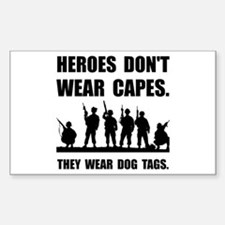 Heroes Wear Dog Tag Decal