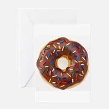 Frosted donut with sprinkles Greeting Cards