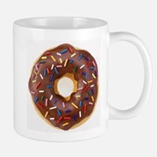 Frosted donut with sprinkles Mugs