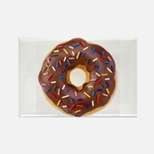 Frosted donut with sprinkles Magnets