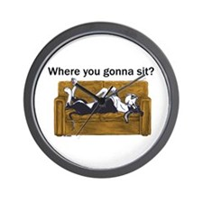 NMtl Where U Gonna Sit? Wall Clock