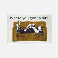 NMtl Where U Gonna Sit? Rectangle Magnet