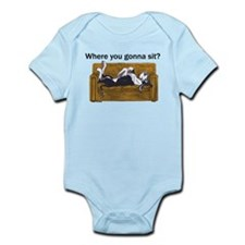 NMtl Where U Gonna Sit? Infant Bodysuit