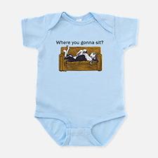 NMtl Where U Gonna Sit? Infant Bodysuit
