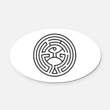 Cute Mysterious Oval Car Magnet