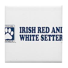 IRISH RED AND WHITE SETTER Tile Coaster