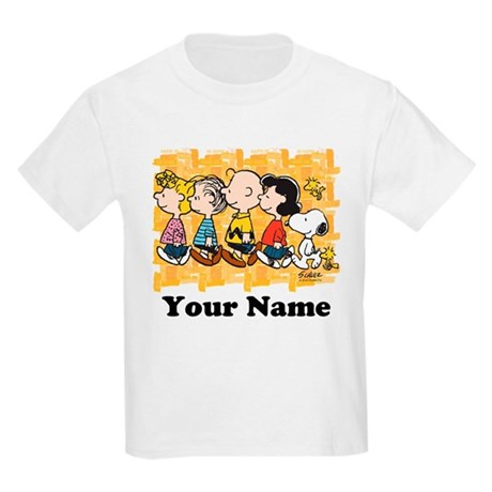CafePress Peanuts Walking Personalized Kids Light T-Shirt