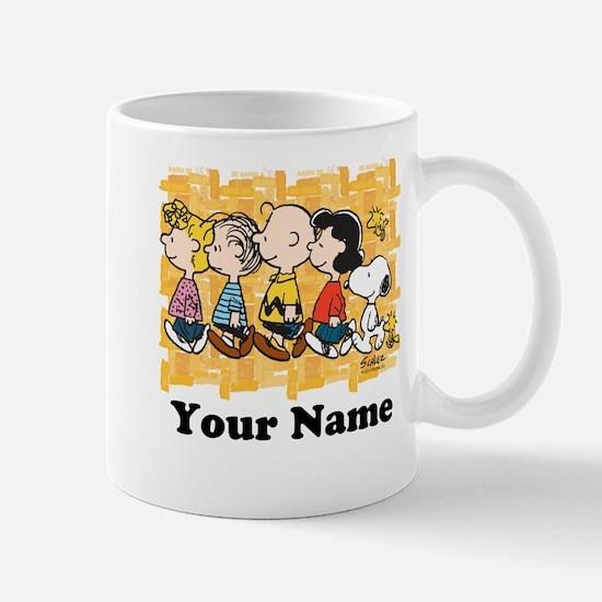 Peanuts Walking Personalized Mug
