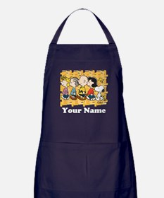 Peanuts Walking Personalized Apron (dark)