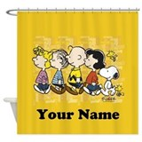 Charlie brown Shower Curtains