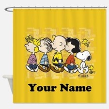 Peanuts Walking Personalized Shower Curtain