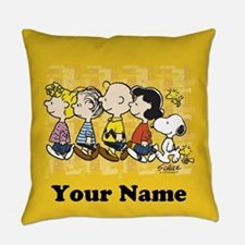 Peanuts Walking Personalized Everyday Pillow