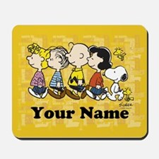 Peanuts Walking Personalized Mousepad