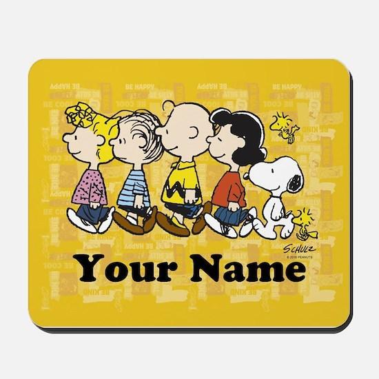 Peanuts Walking Personalized Mousepad