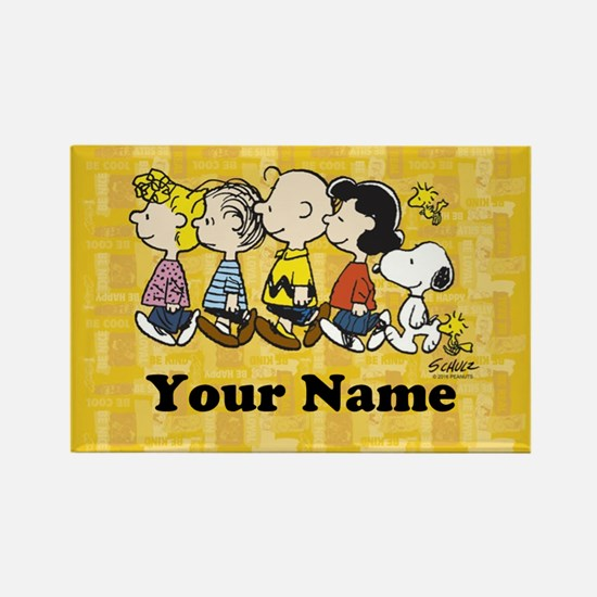 Peanuts Walking Personalized Rectangle Magnet