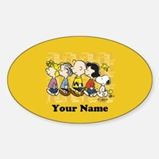 Peanuts Walking Personalized Sticker (Oval)