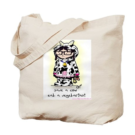 Save A Cow Tote Bag