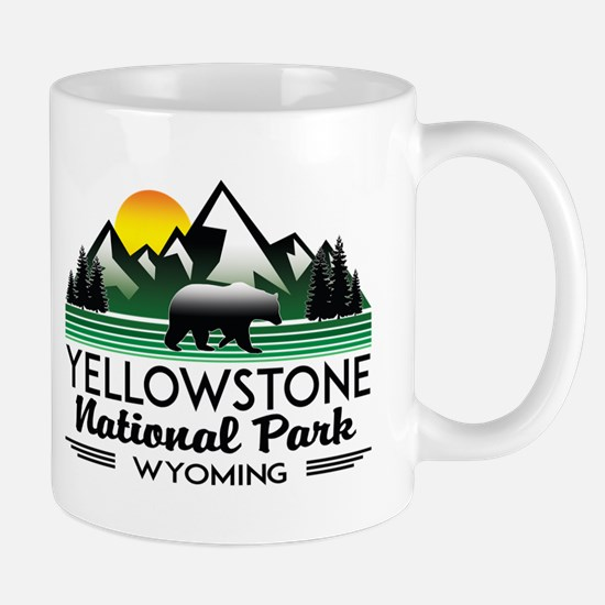 YELLOWSTONE NATIONAL PARK WYOMING MOUNTAINS E Mugs