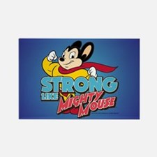 Strong Mighty Mouse Rectangle Magnet