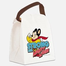 Strong Mighty Mouse Canvas Lunch Bag