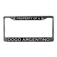 Property of Dogo Argentino License Plate Frame
