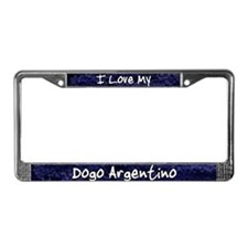 Funky Love Dogo Argentino License Plate Frame