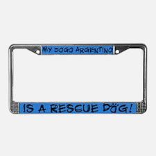 Rescue Dog Dogo Argentino License Plate Frame