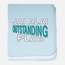 Jai Alai Outstanding Player baby blanket