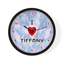 I Love Tiffany (Red/Blk) Valentine Wall Clock
