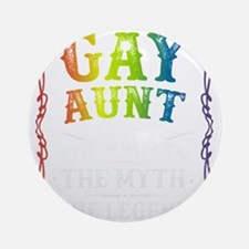 Gay Aunt Round Ornament