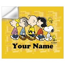 Peanuts Walking Personalized Wall Art Wall Decal