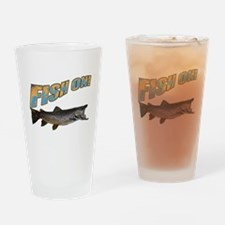 Fish on Brown Trout color Drinking Glass