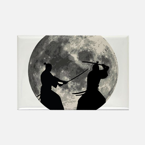 Samurai Moon Magnets