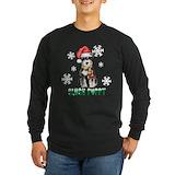 Schnauzer christmas Long Sleeve Dark T-Shirts