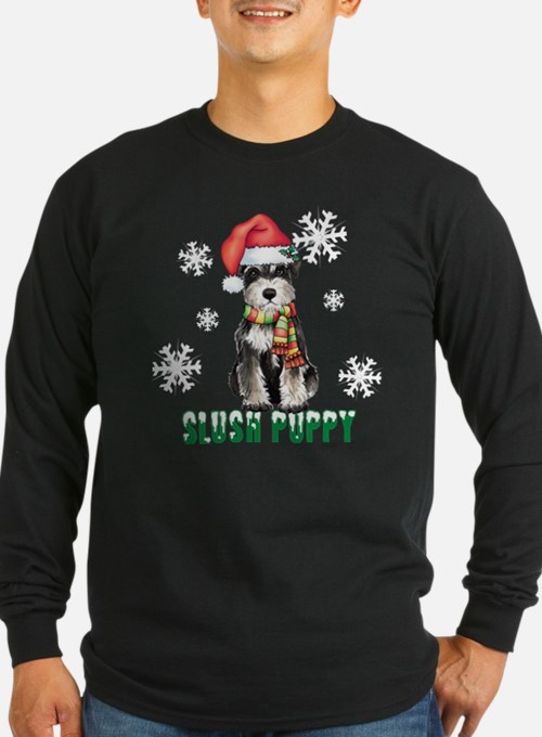 Holiday Miniature Schnauzer Long Sleeve T-Shirt