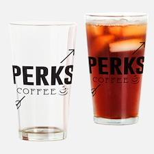 Perks Coffee Drinking Glass