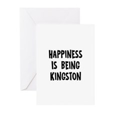 Happiness is being Kingston Greeting Cards (Pk of