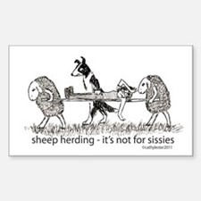 Sheep Herding Sissie Decal