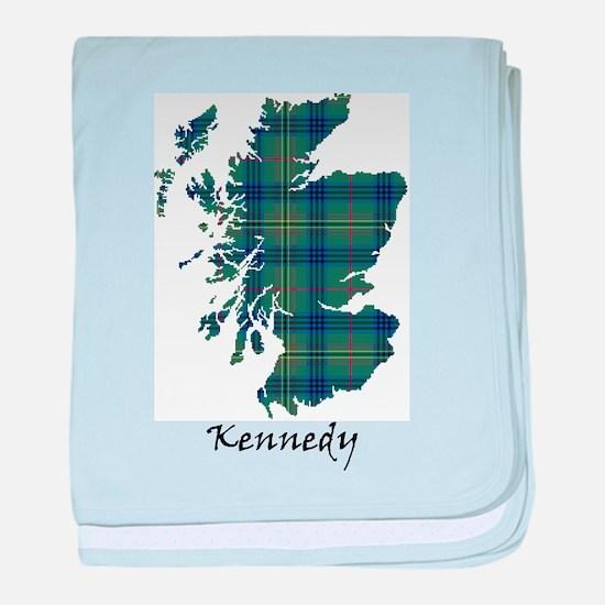 Map - Kennedy baby blanket