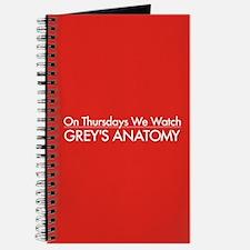 Grey's On Thursdays Journal