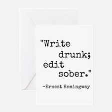 Write Drunk Greeting Cards
