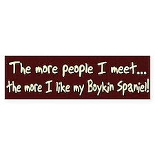 The More People Boykin Spaniel Bumper Bumper Sticker