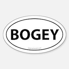 Bogey Golf Bumper Sticker -White (Oval)