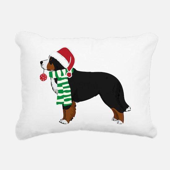 Christmas Bernese Mt Dog Rectangular Canvas Pillow
