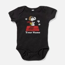 Peanuts Flying Ace Personalized Baby Bodysuit