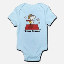 Peanuts Flying Ace Personalized Infant Bodysuit
