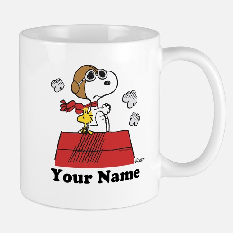 Peanuts Flying Ace Personalized Mug