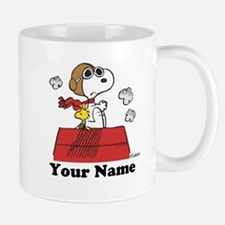 Peanuts Flying Ace Personalized Small Mugs