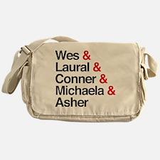 HTGAWM Character Names Messenger Bag