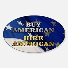 BUY HIRE AMERICAN Sticker (Oval)
